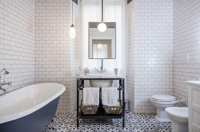 Trang hoàng không gian phòng tắm với gạch Viglacera