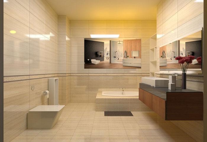 Chọn gạch ốp lát nhà tắm theo phong cách hoàng gia