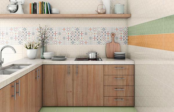 Mẫu gạch ốp tường phòng ăn đẹp