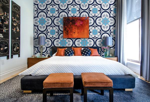 Chọn họa tiết gạch ốp tường phòng ngủ