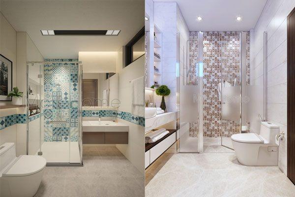 Sử dụng gạch ốp lát cho nhà tắm