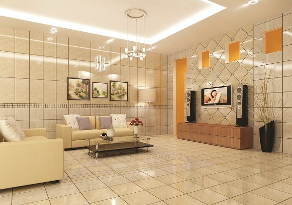 Chọn gạch ốp tường cho phòng khách và những điều cần lưu ý