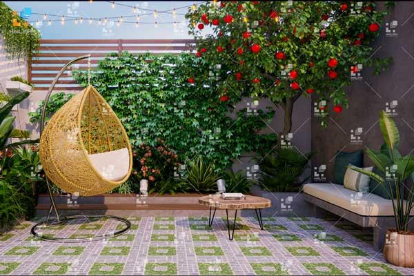 TOP 5 mẫu gạch lát sân vườn đẹp - giá rẻ được chọn nhiều nhất hiện nay 5