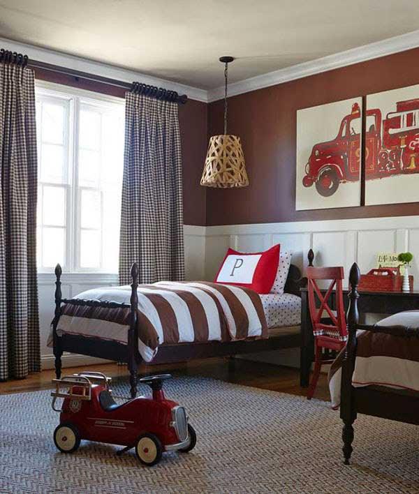 Ý tưởng mẫu phòng ngủ cho bé trai đẹp, ấn tượng 2021 2