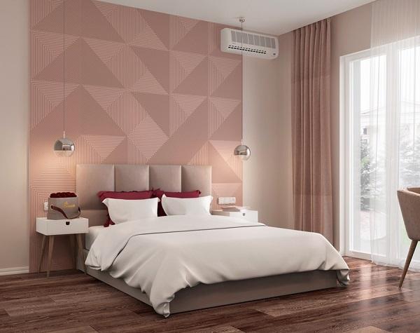 gạch ốp tường phòng ngủ màu hồng-02