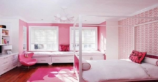 gạch ốp tường phòng ngủ màu hồng-05