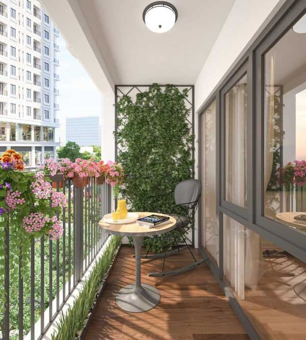 Thiết kế ban công chung cư cần lưu ý điều gì? 1